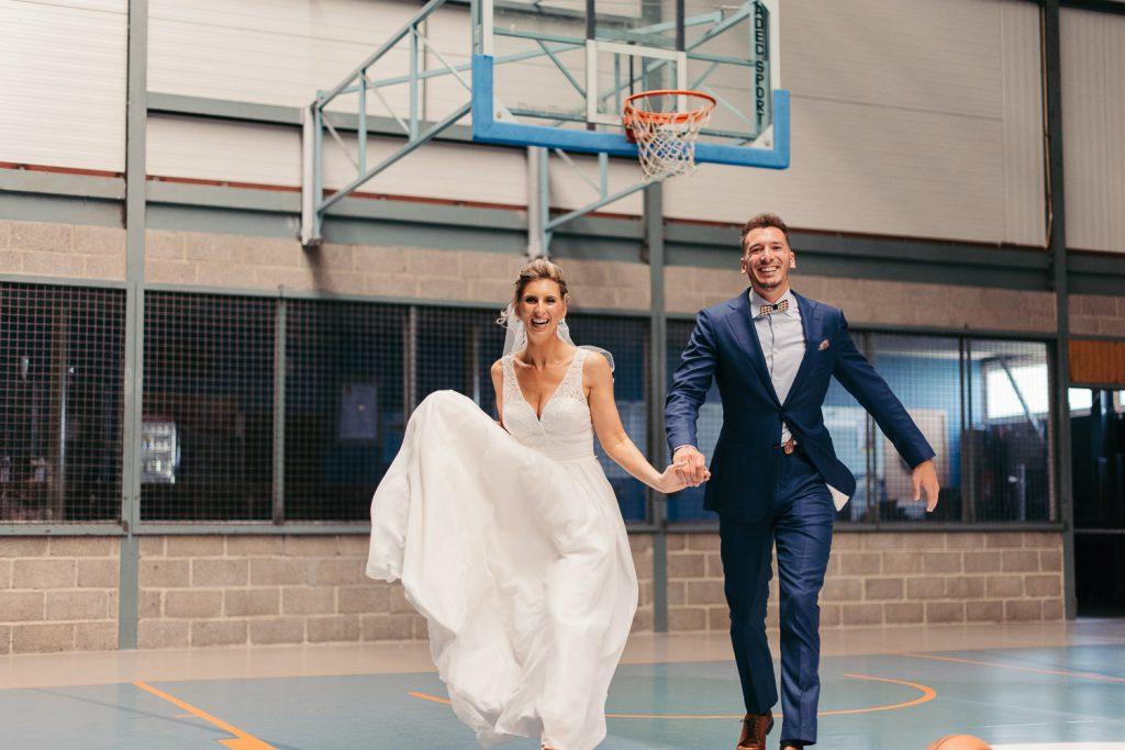 trouwfotografie koppelshoot basketball